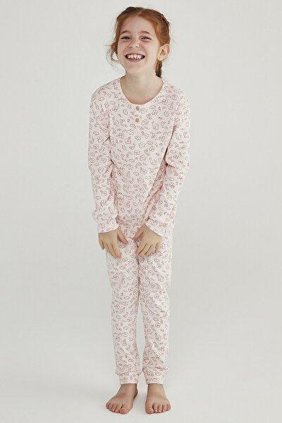 Incı Kız Çocuk Rıb 2li Pijama Takımı