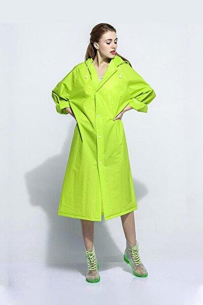 Unisex Yağmurluk Kapüşonlu Yeşil