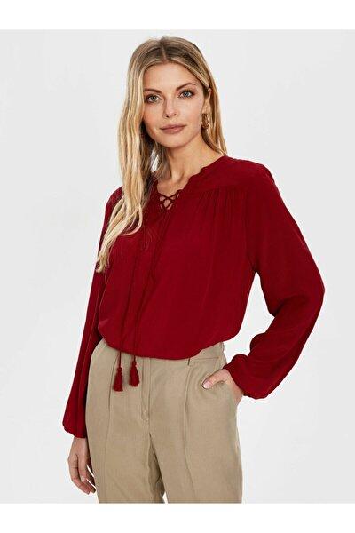 Kadın Bordo  Bluz