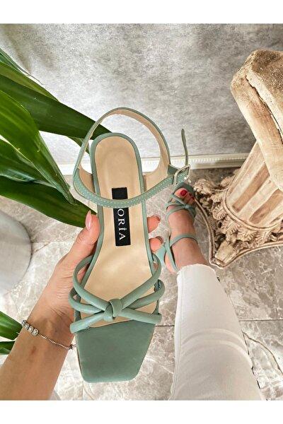 Kadın Mint Yeşil Sandalet
