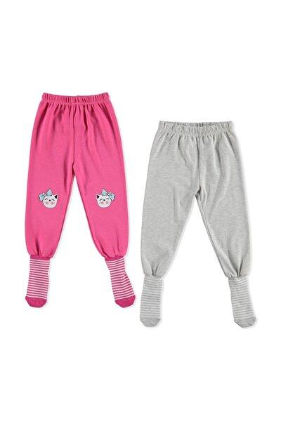 Erkek Bebek Basic  Çoraplı Pijama Pantolon 2li