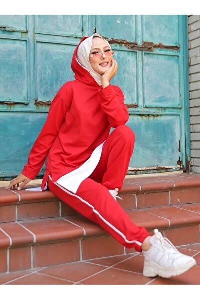 Kadın Kırmızı İkili Eşofman Takımı