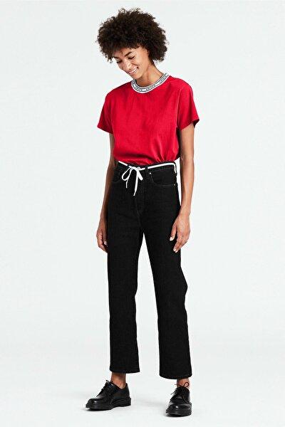 Ribcage Straight Ankle Kadın Jean Pantolon- Heart