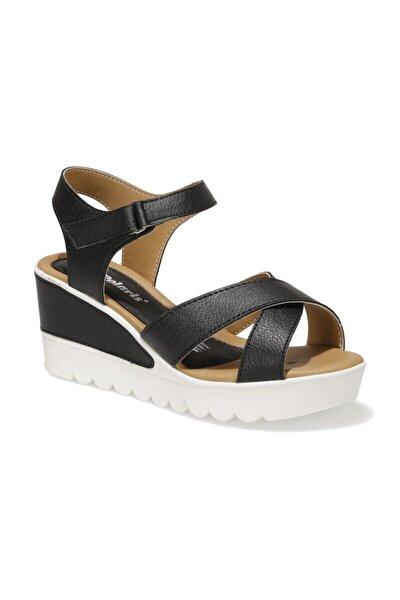91.308569.Z 1FX Siyah Kadın Dolgu Topuklu Sandalet 101016737
