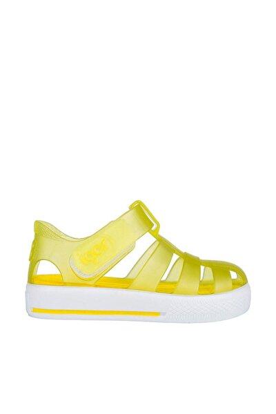 Unisex Çocuk Sarı Star Sandalet