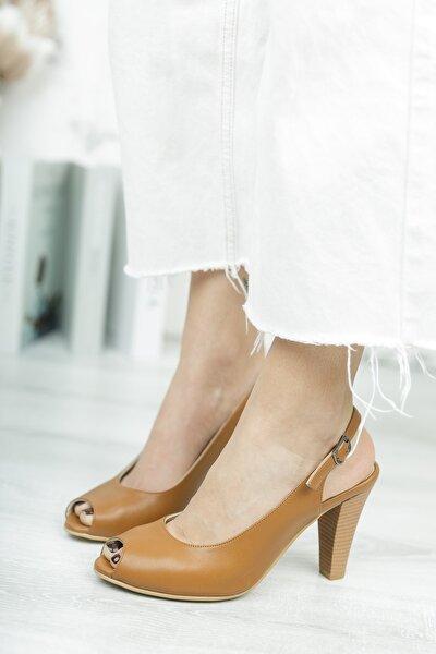 Kadın Taba Iç Dış Deri Klasik Topuklu Ayakkabı