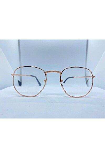Numarasız Beşgen Mavi Işık Engelleyici Gözlük