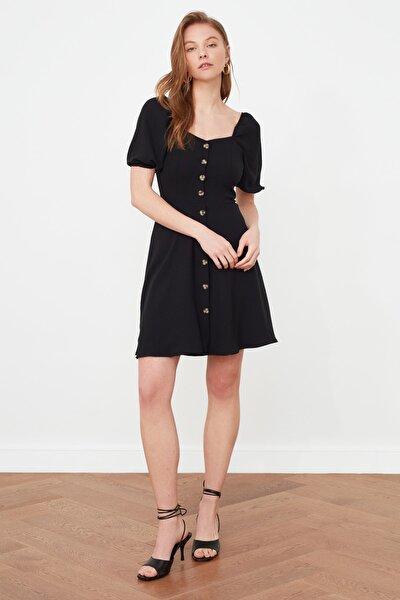 Siyah Düğmeli Elbise TWOSS20EL2314