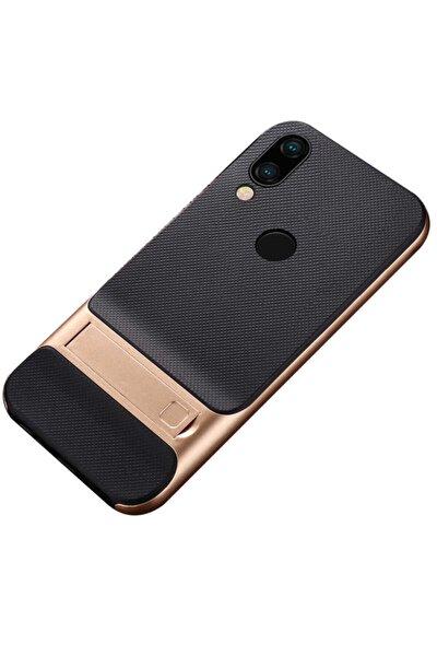 Redmi Note 7 Kılıf Standlı Ultra Koruma Karbon Silikon Verus Model