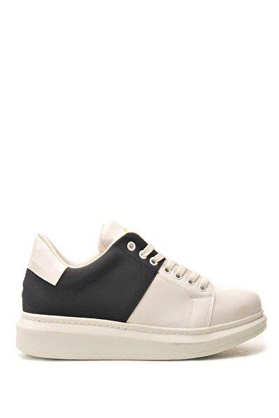 201761 Beyaz Lacıvert Erkek Casual Ayakkabı