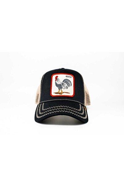 Unisex Siyah Rooster Standart Şapka
