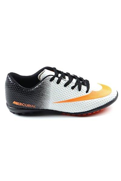 Erkek Beyaz Halısaha Futbol Spor Ayakkabı