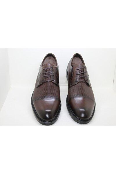 1. Kalite Hakiki Deri Kahverengi Bağcıklı Erkek Ayakkabı