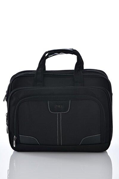 71204 Laptop Bölmeli Körüklü Evrak Çantası Siyah