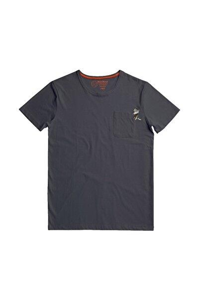 Erkek Racoon Tee Antrasit Kısa Kollu Tişört