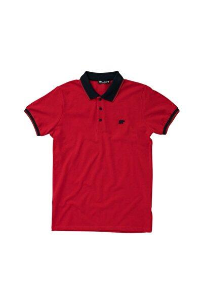 Pınstrıpe Pıque Polo Kırmızı Polo Tişört