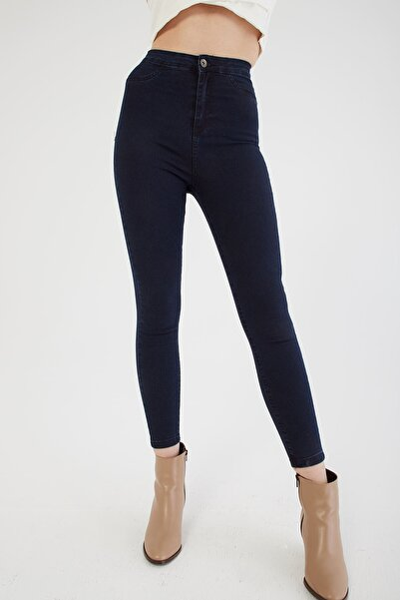 Yüksel Bel Skinny Jean Pantolon Mavi