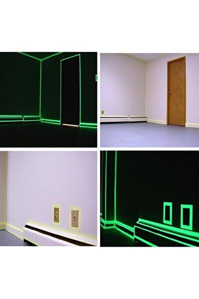 Karanlıkta Işık Veren Yansıyan 4 Metre Fosforlu Yeşil Şerit Bant