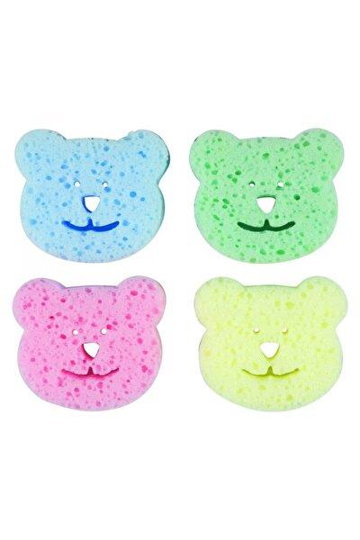 Renkli Bebek Banyo Süngeri 4'lü Paket