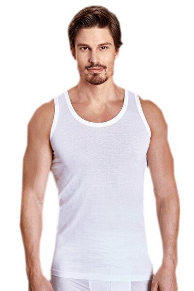 Erkek Beyaz 6'lı Paket Klasik Atlet Elf568ber10206