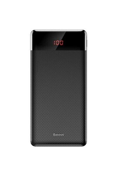 Mini Cu 10000mah Dijital Ekran Power Bank Taşınabilir Şarj Cihazı Siyah