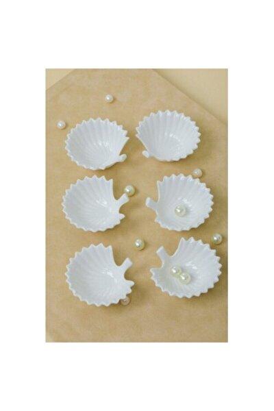 6 Adet Recellık Sosluk Istırıdye Porselen