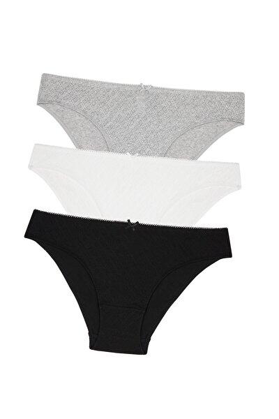 Siyah Beyaz Gri Soft Pointel Basic 3Lü