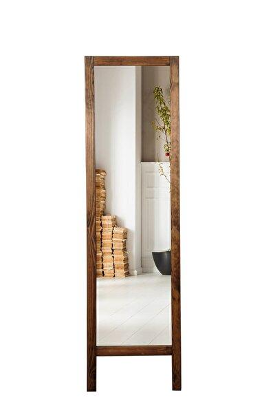 Ayaklı Boy Aynası Masif Ahşap 41x145cm