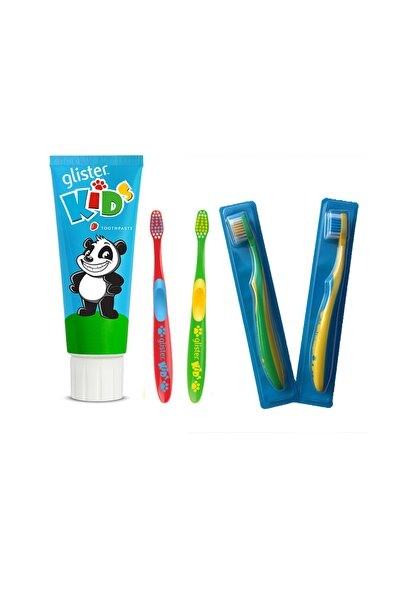 Çocuk Ağız Sağlığı Seti, 2 Diş Fırçası Ve Diş Macunu