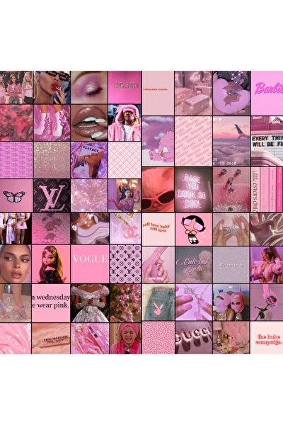 Aesthetic Pink 60'lı Duvar Posteri Seti