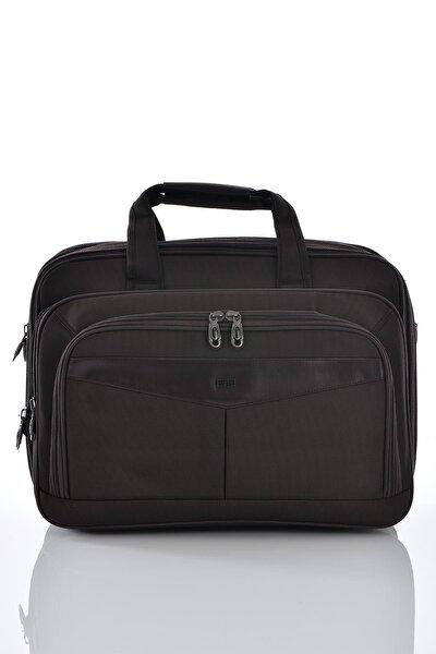 71147 Laptop Bölmeli Körüklü Evrak Çantası Kahverengi