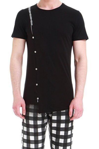 Erkek Siyah Slim Fit Spor T-shirt Atş 012