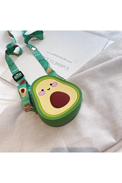 Kız Çocuk Silikon Avokado Tasarım Omuz Çanta
