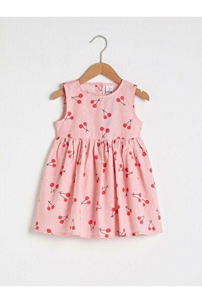 Kız Bebek Pembe Baskılı Elbise