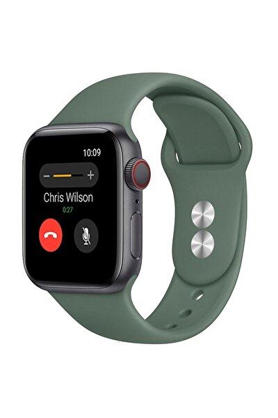 Apple Watch Silikon Kordon Kayış 1 | 2 | 3 | 4 | 5 - 38mm 40mm - Çam Yeşili
