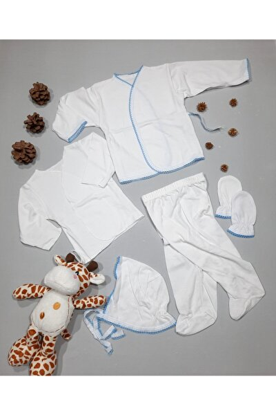 Zıbın Set Yeni Doğan Erkek Bebek 5'li Hastane Çıkışı