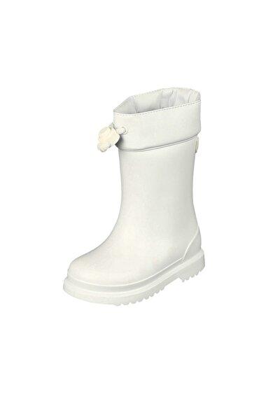 Chufo Cuello Çocuk Beyaz Yağmur Çizmesi 21-29