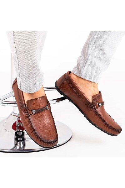 Ortopedik Loafer Erkek Ayakkabı Mln1102 Taba