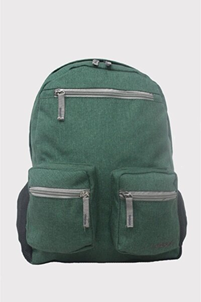 Unisex Sırt Çantası Bez Şık Dokulu Çanta Çok Renkli Koyu Yeşil 8593