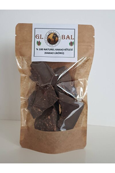 %100 Naturel (ham) Kakao Kitlesi(kakao Likörü)-%100 Bitter Çikolata-200 Gr
