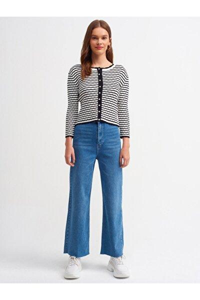 4174 Cepsiz Paçası Dikişsiz Pantolon-mavi