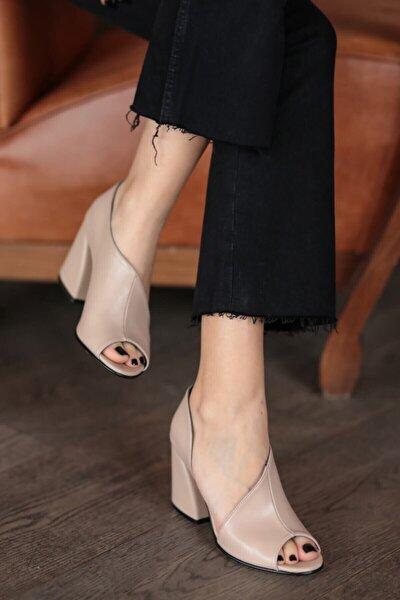 Eva Ten Rengi Topuklu Ayakkabı