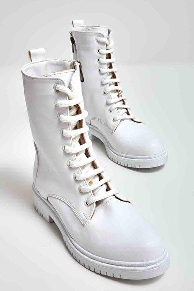 Beyaz Kadın Bot & Bootie M0509313009