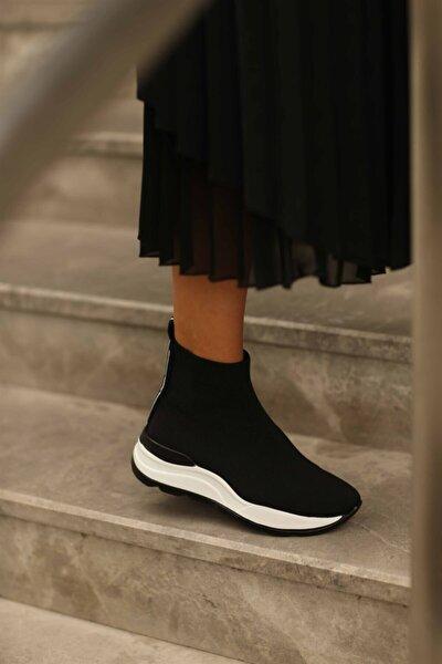 Kadın Siyah Daunte Triko Spor Ayakkabı