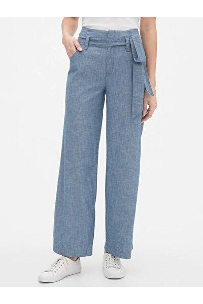 Wide-leg Şambre Pantolon