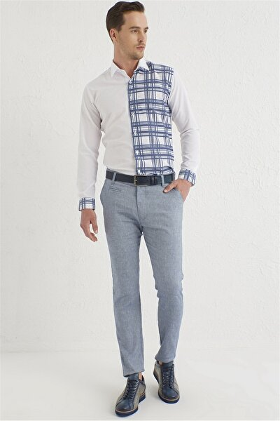 P 1069 Slim Fit Indigo Spor Pantolon