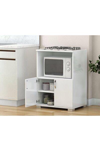Çok Amaçlı Set Altı Dolap Mutfak Mikrodalga Fırın Dolabı - Beyaz