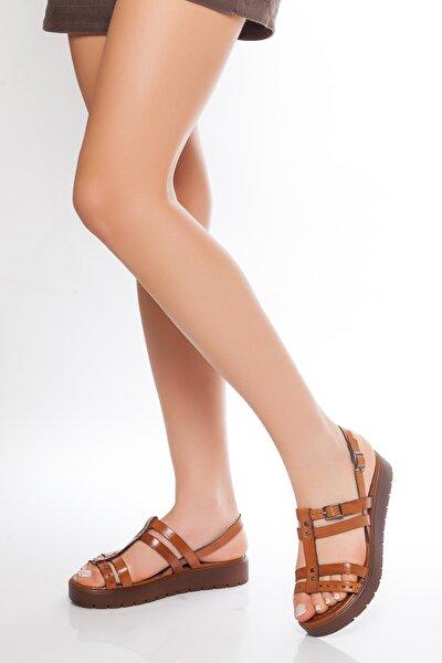 Hakiki Deri Taba Kadın Deri Sandalet Rma-3111