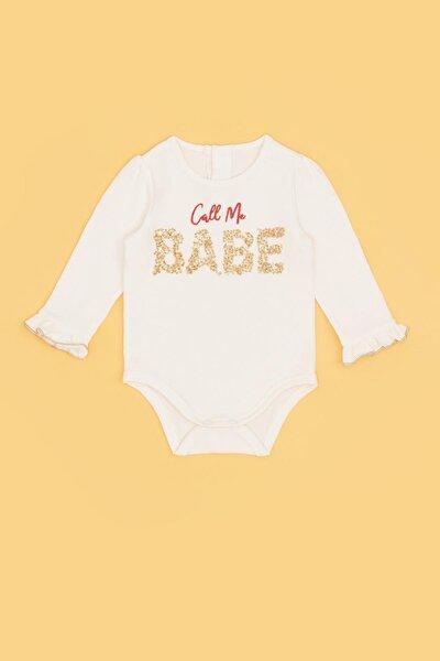 Kız Bebek Ekru Body 20pfwbg2505