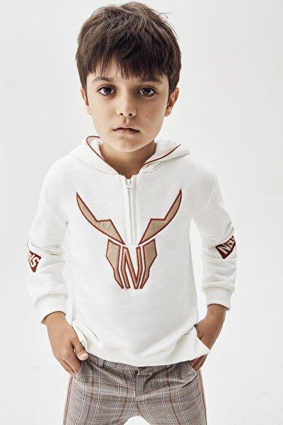Erkek Çocuk Ekru S-shirt 20fw0nb3413